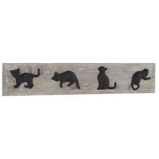 Gussie Wooden Wall Mounted Coat Rack By Brambly Cottage