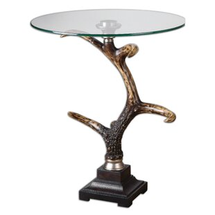 Top Bard Stag Horn Accent Table By Bloomsbury Market