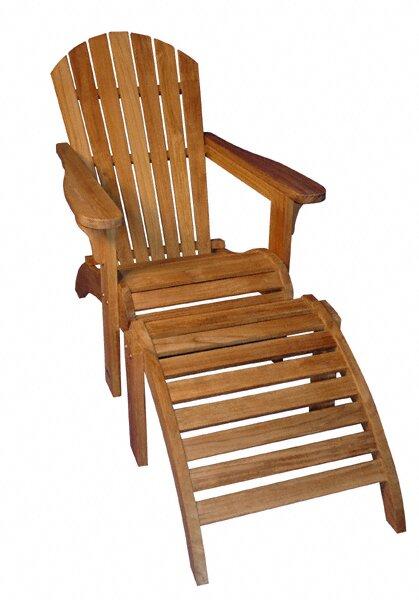teak adirondack chairs. Teak Adirondack Chair With Ottoman Chairs N