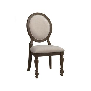 Hackworth Rubberwood Upholstered Dining Chair (Set of 2) One Allium Way