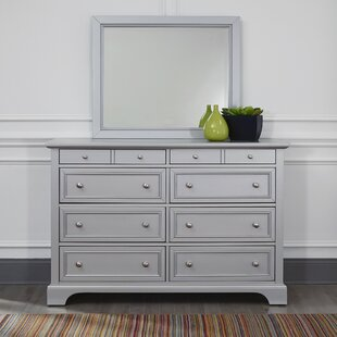 Roxane 8 Drawer Double Dresser with Mirror
