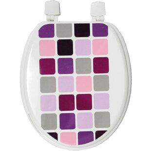 Evideco Mosaic Elongated Toilet Seat