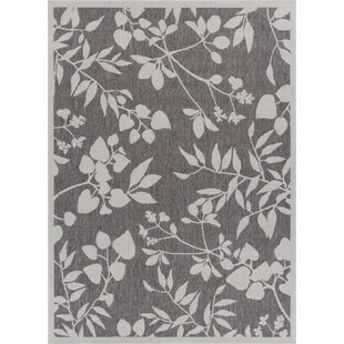 Titan Weather-Proof Gray Indoor/Outdoor Area Rug by Winston Porter Cool
