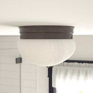 Inexpensive Keaton 1-Light Flush Mount By Winston Porter