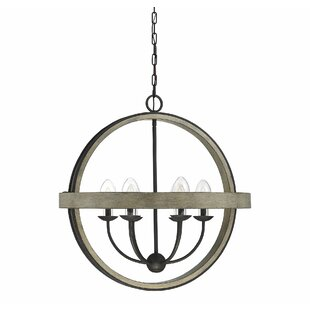 Comparison Noble 6-Light Outdoor Pendant By Gracie Oaks