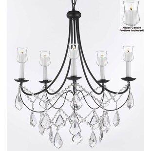 black chandelier lighting photo 5. Faxon 5-Light Black Shaded Chandelier Lighting Photo 5