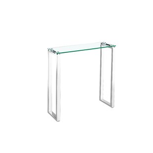 Ridinger Glass Console Table By Orren Ellis