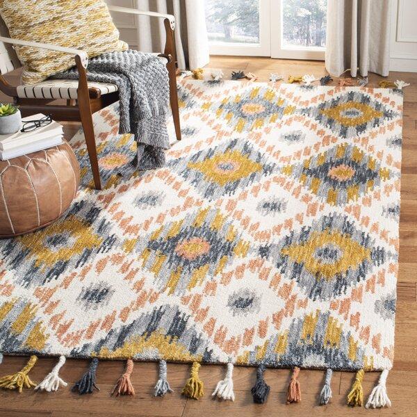 Bungalow Rose Niederanven Hand Tufted Wool Ivory Yellow Area Rug Reviews Wayfair