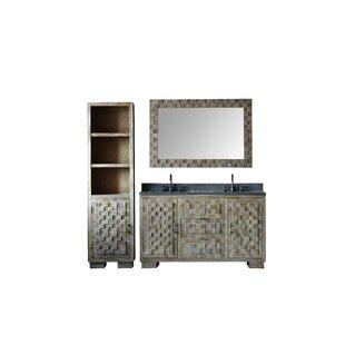 Latisha Solid Elm 22 Double Bathroom Vanity Set with Mirror by Bayou Breeze