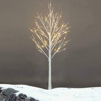 The Holiday Aisle White Fir Artificial 72 Lighted Tree And Branches Wayfair