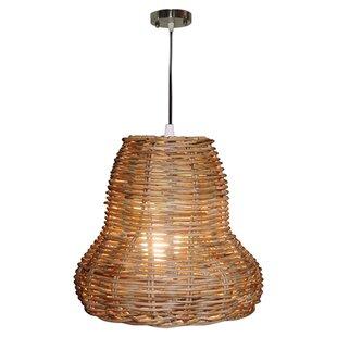 Keon Rattan 1 Light Bell P..