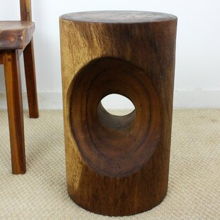 Machuca Peephole End Table by World Menagerie