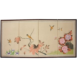 Abigail 4 Panel Room Divider by World Menagerie