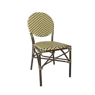 Birge Cafe Stacking Patio Dining Chair with Cushion