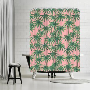 Emanuela Carratoni Palms Obsession Single Shower Curtain