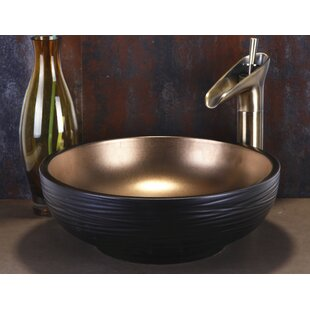 Ceramic Circular Vessel Bathroom Sink By Dawn USA