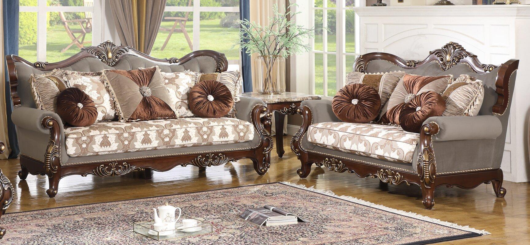 Astoria Grand Dengler 2 Piece Sofa And Loveseat