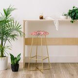 Pimlada Phuapradit Folk Floral 28 Bar Stool by East Urban Home