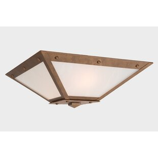 Steel Partners Rogue River Ranch 2-Light Flush Mount
