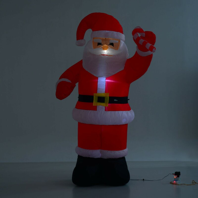 2d6b5ca814678 HomCom 8  Indoor Outdoor LED Inflatable Holiday Christmas Yard Decoration    Reviews