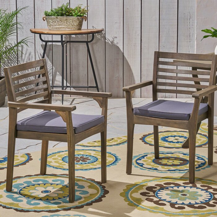 Cleghorn Patio Dining Chairs With Cushions