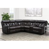 Alajuwon 165 Faux Leather Symmetrical Reclining Corner Sectional by Red Barrel Studio®