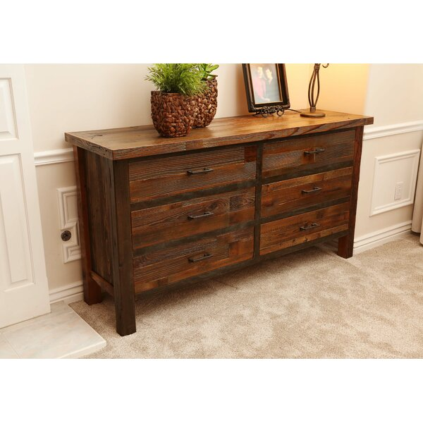 Loon Peak Emsworth 6 Drawer Double Dresser Wayfair