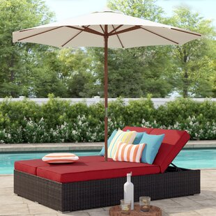 Brentwood Double Chaise Lounge with Cushion by Sol 72 Outdoor
