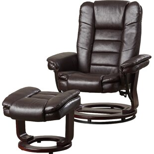 Hammersdale Manual Swivel Recliner with Ottoman