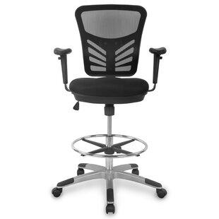 Nidhi Mesh Drafting Chair by Latitude Run