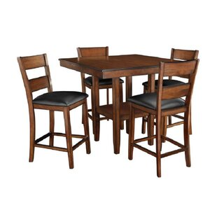 Millwood Pines Bauman Pendwood 5 Piece Counter Height Dining Set