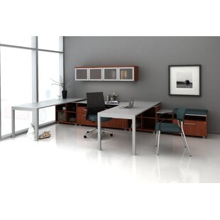 Trendway Trig Private L-Shape Desk Office Suite