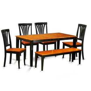 Pillar Traditional 6 Piece Wood Dining Set August Grove