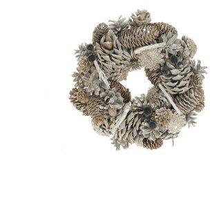 Preserved Christmas 25cm Fir Wreath By The Seasonal Aisle