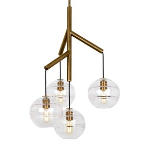 Demelza 4-Light Cluster Pendant by Wrought Studio