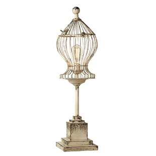 Best Reviews Archer Distressed Curved Bird Cage 33 Table Lamp By Gracie Oaks