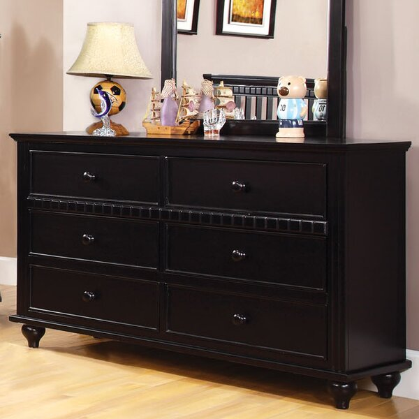 Hokku Designs Kennedy 6 Drawer Double Dresser   Wayfair