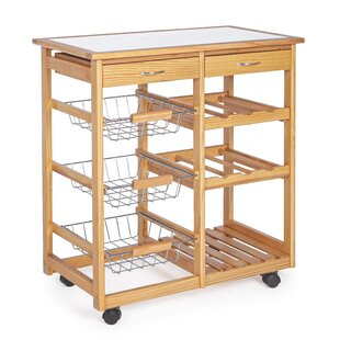 Neva Kitchen Trolley With Tile Top By Belfry Kitchen