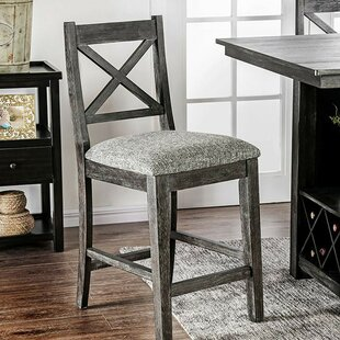 Regalado Counter Height Upholstered Dining Chair (Set of 2)
