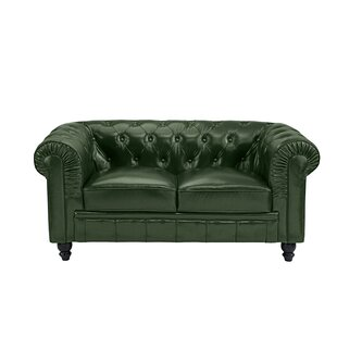Hunter Green Leather Loveseat Wayfair
