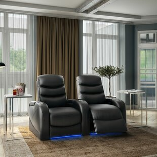 Home Theater Row Seating (Row of 2) by Winston Porter