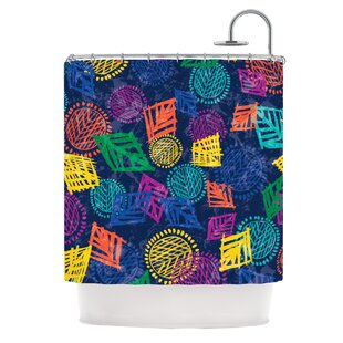 African Beat Single Shower Curtain