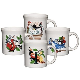 Twelve Days of Christmas 12 Oz. Mug (Set of 4)