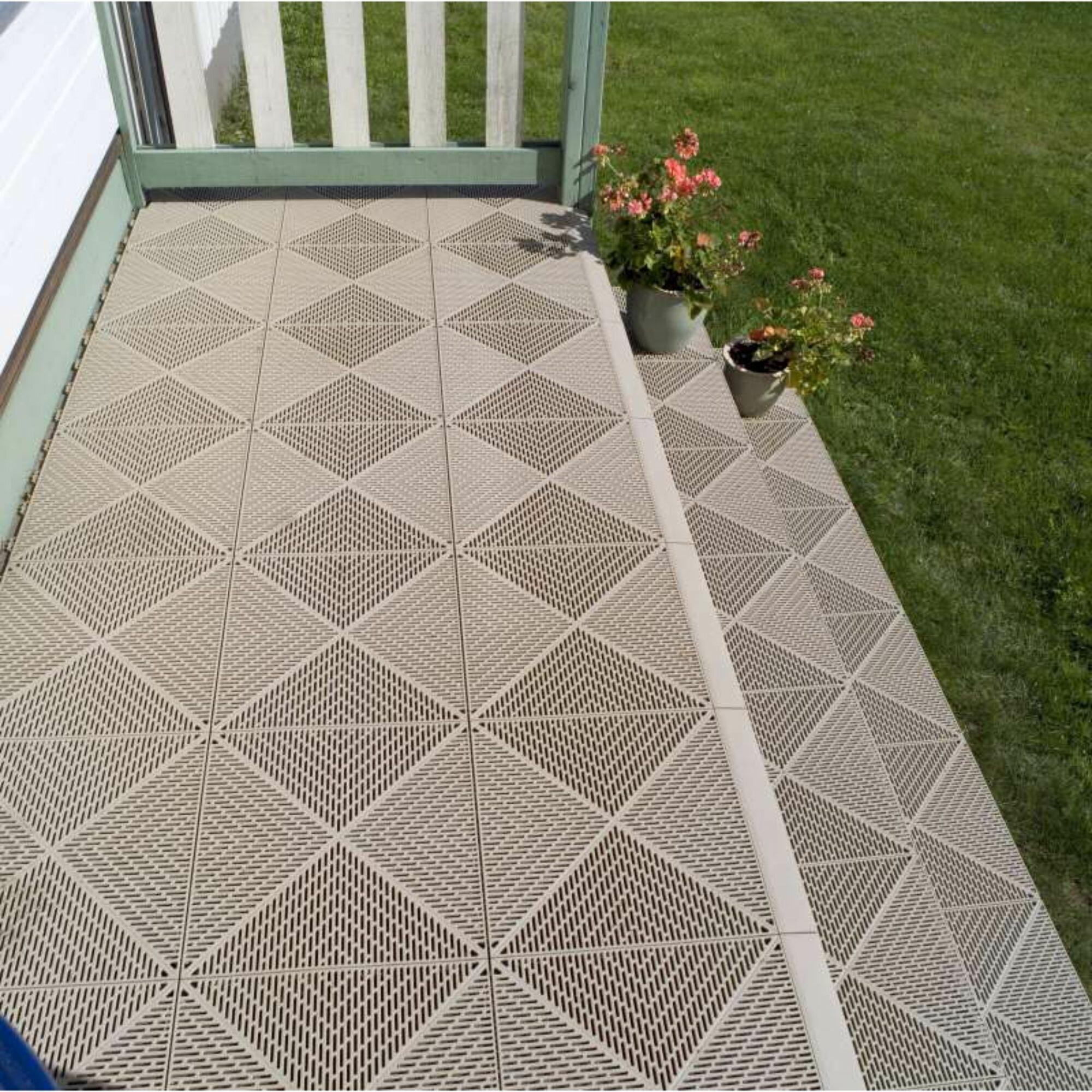 Mats Inc Bergo Unique 14 9 X 14 9 Garage Flooring Drain Tiles Wayfair