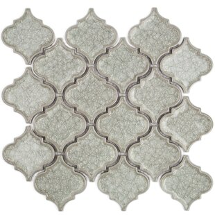 Roman Selection Glass Mosaic Tile in Cream