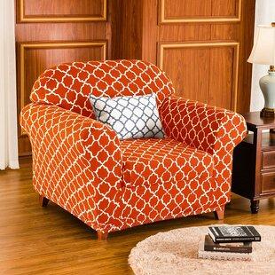 Cloud Printed Box Cushion Armchair Slipcover By Charlton Home
