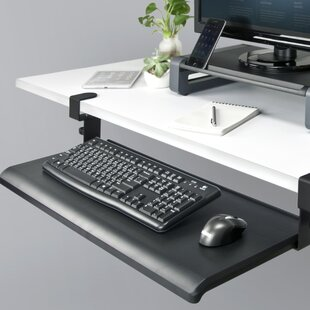 Delicieux Desk Clamp Keyboard Tray | Wayfair