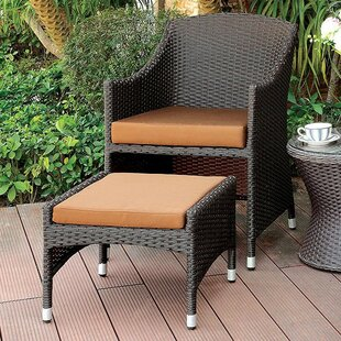 Mckinley Patio Chair with Ottoman by Gracie Oaks