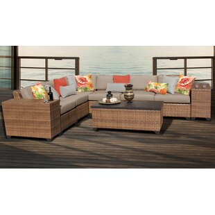 Medina 9 Piece Outdoor Sectional Seating Group with Cushions