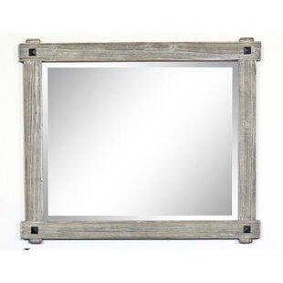 Affordable Welborn Rustic Wood Framed Bathroom / Vanity Mirror ByMillwood Pines